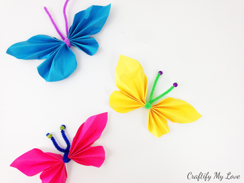 paper butterfly craft ideas simple paper butterfly for preschoolers craftify my 5072