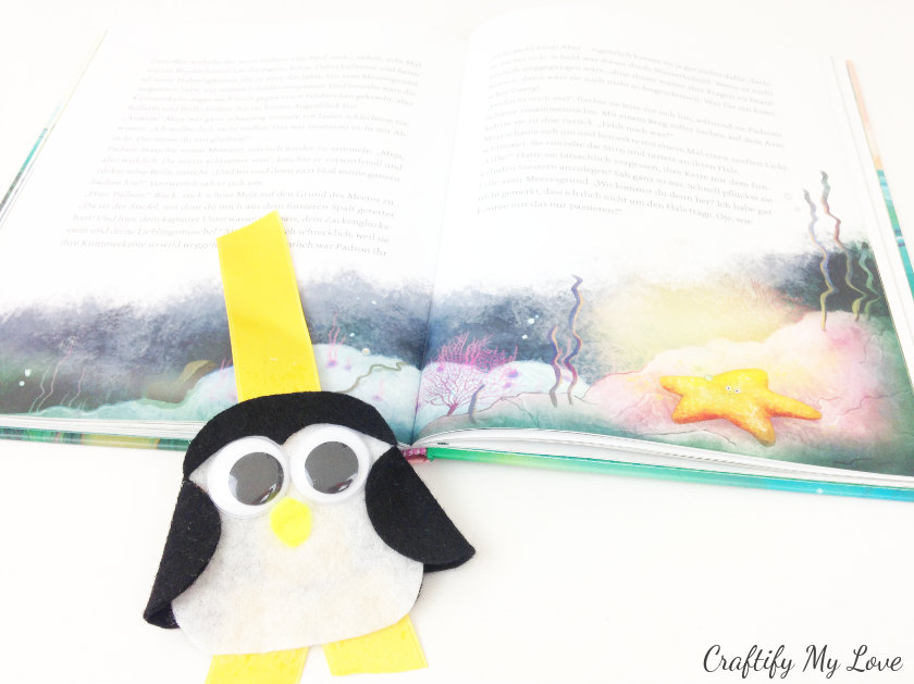 how to make summer reading more fun? DIY this fun felt bookmark with your kids