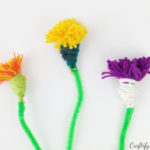 kids craft summer activity and gift idea for mother's day or birthday tassel flower