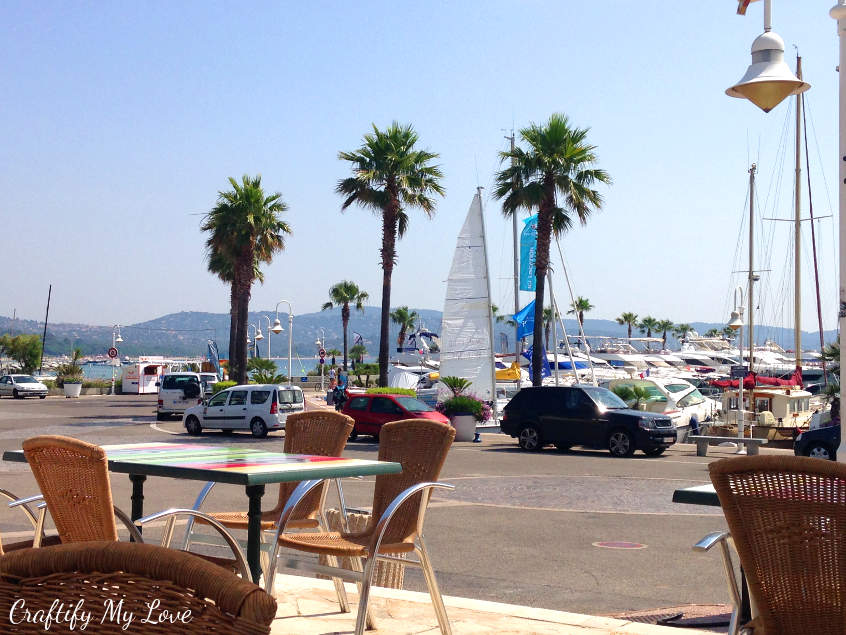 The marina at Cavalaire-sur-Mer is cute to stroll through during the day and great to dine and wine in the evening