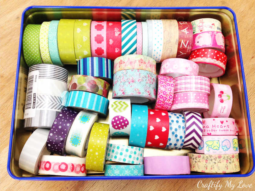 I use my washing tape collection to decorate almost everything in my home. It's a DIY necessity for sure!