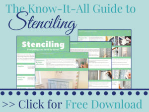 Free Download! The Everything-You-Need-To-Know Guide in order to not mess up your next stenciling project.