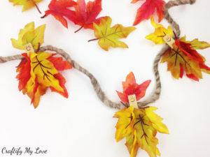 happy fall fairies garland - frugal and fun kids craft home decor in orange and yellow
