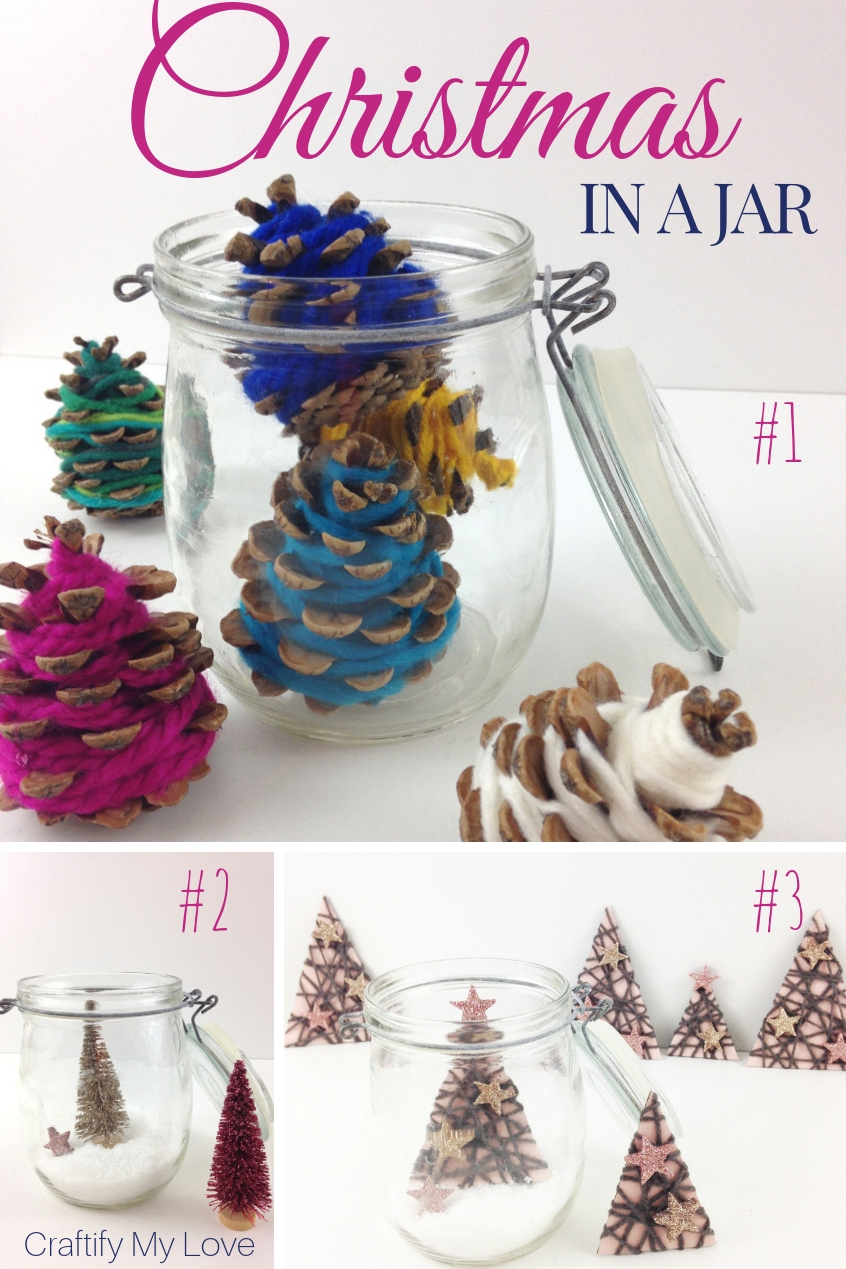 3 Fun Adorable Ideas To Decorate For Christmas In A Jar Craftify My Love