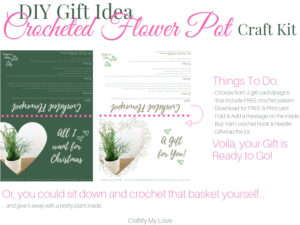 Free Printable Gift Cards including Free Crochet Pattern for a basket