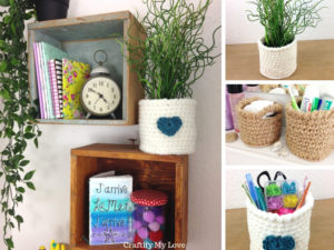 Free crocheting pattern for a basket. Includes free video tutorial class for crochet beginners