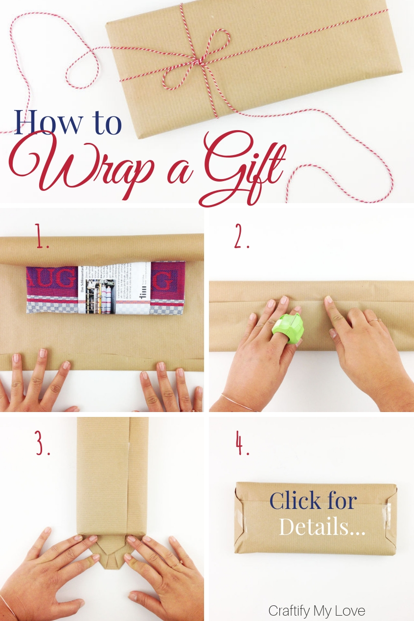 Need to wrap a gift but don't know how? I've put together a very detailed step-by-step instructions for you. Click to learn how to wrap a present like a boss. #craftifymylove #giftwrapping #howtowrapagift #howtodecorateapresent #giftwrappingideas #inspiration