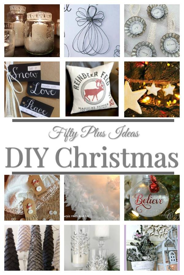 You will absolutely love this list of 52 plus DIY Christmas Ideas. They will help you decide on DIY home decor, fun games for the holidays and bring new delicious recipes into your kitchen. #craftifymylove #ChristmasDIY #inspiration #roundup #ChristmasCrafts #collection #bloghop