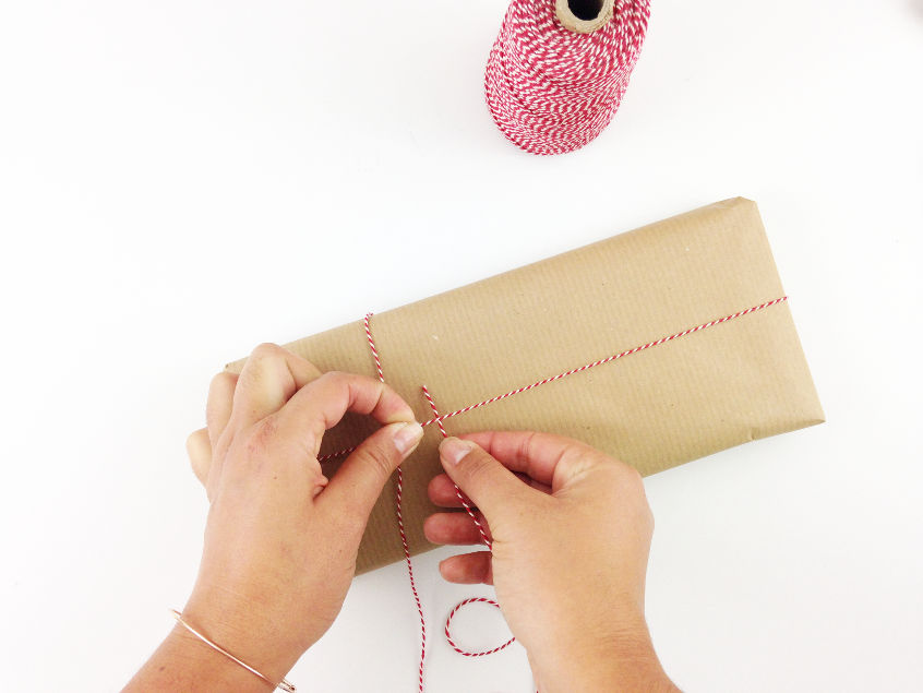 bakers twine gift wrapping idea