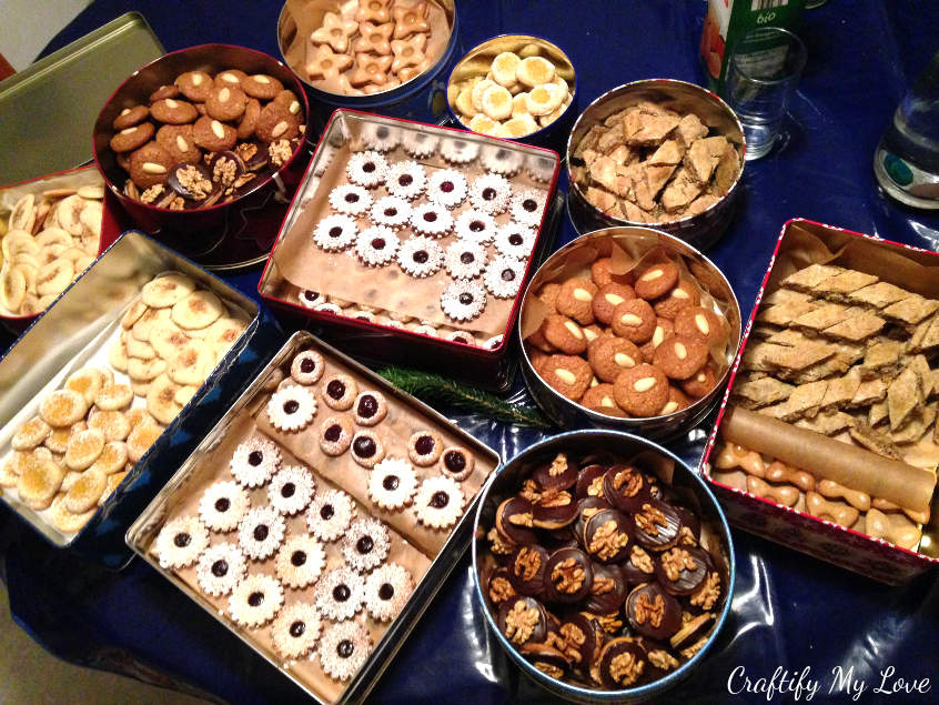 German Christmas Cookies are the best. Here is a big selection my friend and I baked in one day.