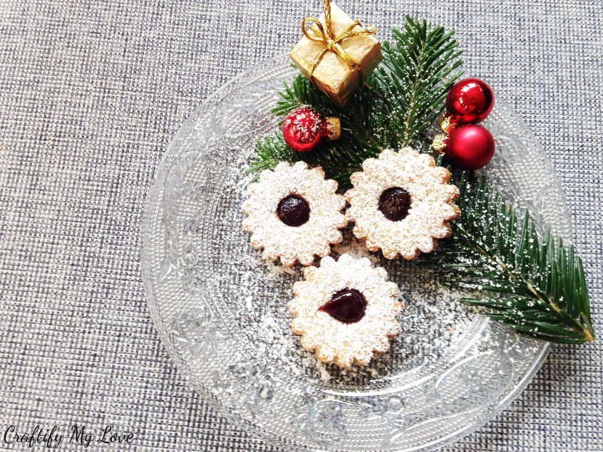 Spitzbuben German Christmas Cookies. These are my favourite jam filled cookies ever