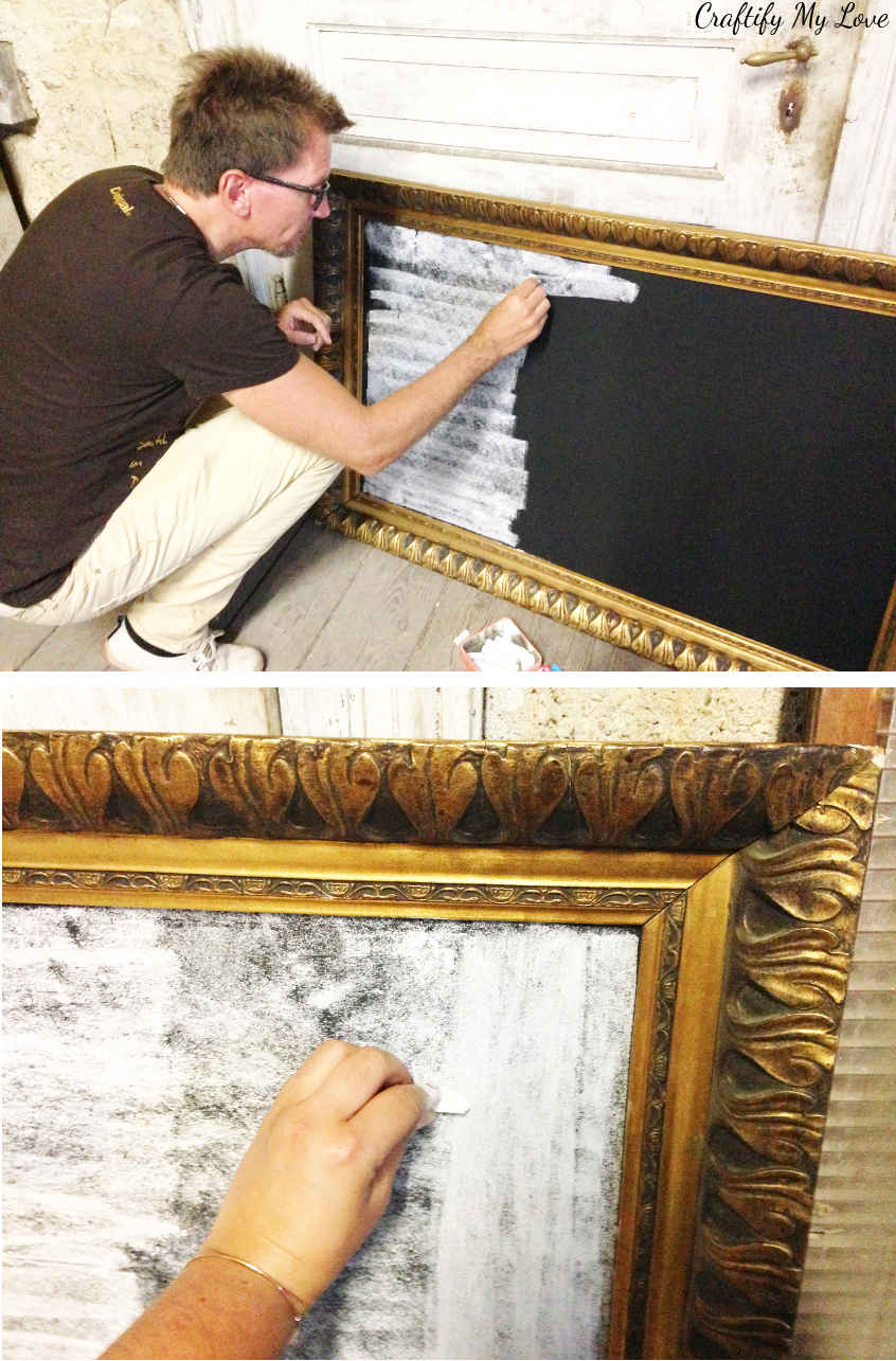 How to break in or season a new chalkboard to prevent irreversible shadows on your chalkboard. What you absolutely need to do before writing on a new chalkboard!