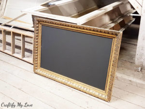 How to make a chalk board from an upcycled picture frame found in an attic