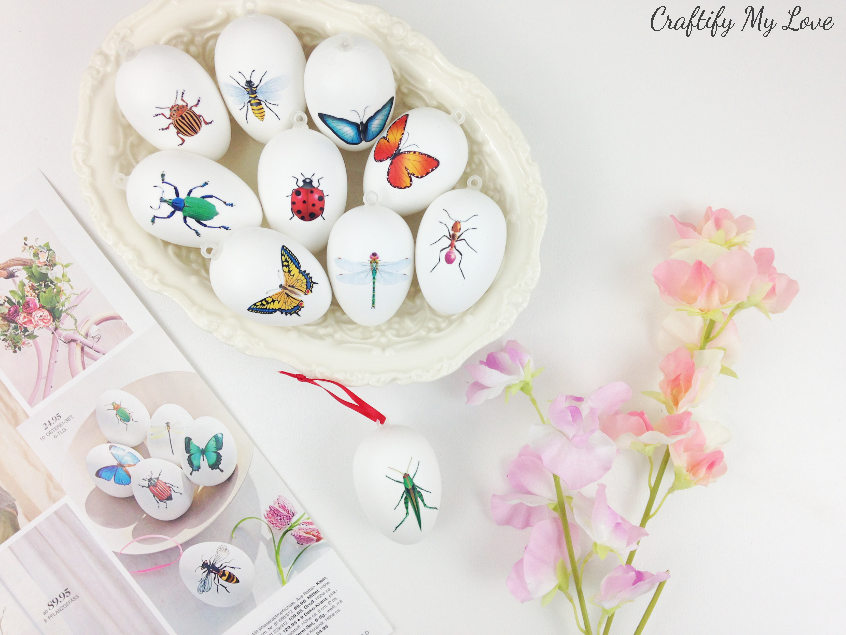 Beautiful frugal Easter craft to save money on your spring home decor on a budget