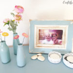 Quick and easy recycling craft project: DIY upcycled painted glass bottles turned vases