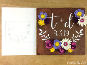 From design to finished wood sign: couples diy gift idea for anniversary or gay wedding