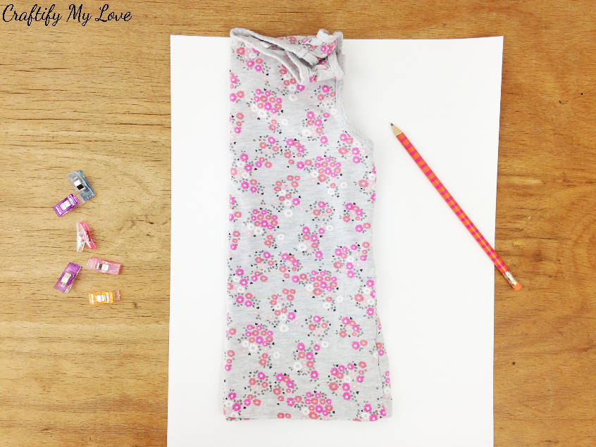 how to diy create make your own pattern from an undershirt for little girls summer dress