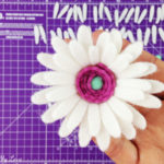 How to make a felt flower using a cutting machine. Free SVG Cut File for marguerite daisy flower