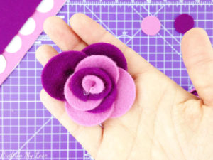 How to make a felt rose step by step flower felt craft tutorial
