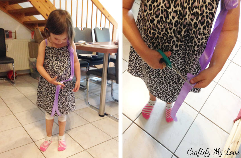 sewing with kids: deciding on length of dress straps
