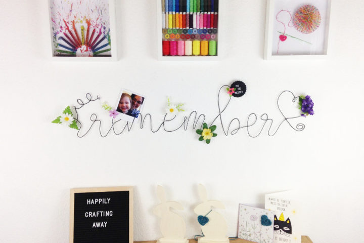 How to make a bent wire memo board with hand shaped wire lettering