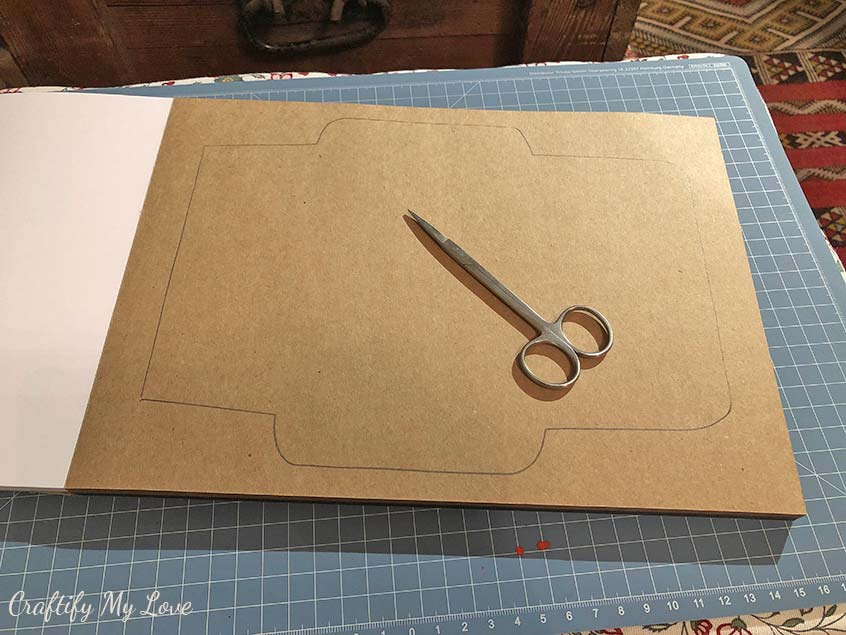 handmade c6 envelope template trace and cutout for cardmaking