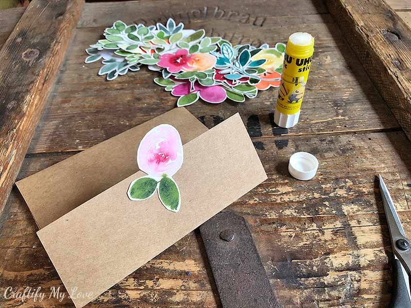 quick and easy card making with floral watercolor cutouts beginner friendly