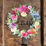 watercolor florals wreath cutouts craft kit scrapbooking multi purpose