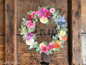 watercolor florals wreath cutouts craft kit scrapbooking multi purpose